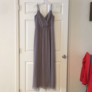 David's Bridal Bridesmaid Dress- Beaded Straps